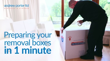 Preparing your removal boxes in one minute